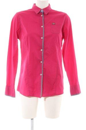 Napapijri Langarmhemd pink Schriftzug gedruckt Casual-Look