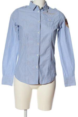 Napapijri Langarmhemd blau Streifenmuster Casual-Look