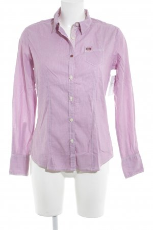 Napapijri Langarmhemd violett meliert Casual-Look