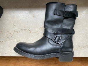 Napapijri Platform Booties black leather