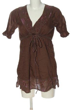 Napapijri Blouse à manches courtes brun-rose style décontracté