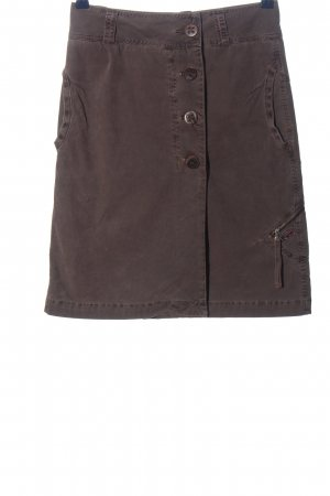 Napapijri Falda de talle alto marrón look casual