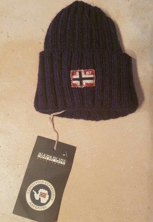 Napapijri Cappello a maglia blu scuro Acrilico