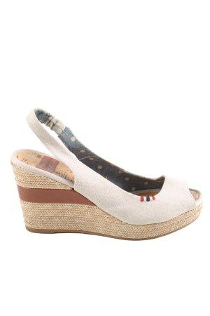 Napapijri Sandały na grubym obcasie brązowy-w kolorze białej wełny