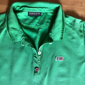 Napapijri Polo-Shirt L, grasgrün , guter Zustand