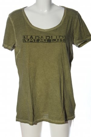 Napapijri Print Shirt khaki printed lettering casual look