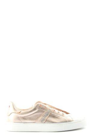 Napapijri Schlüpfsneaker goldfarben-weiß Casual-Look