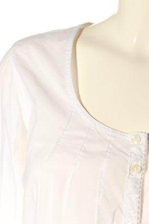 Napapijri Schlupf-Bluse weiß-schwarz Motivdruck Casual-Look