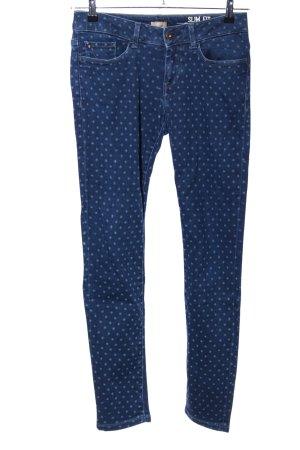 Napapijri Slim Jeans blau Allover-Druck Casual-Look