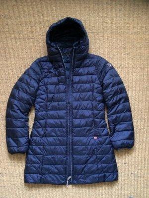 Napapijri Pikowany płaszcz ciemnoniebieski
