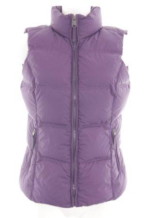 Napapijri Gilet matelassé violet motif de courtepointe style décontracté