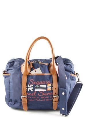 Napapijri Stofftasche blau Motivdruck Casual-Look