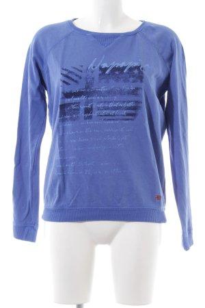 Napapijri Sweatshirt blau Schriftzug gedruckt Casual-Look
