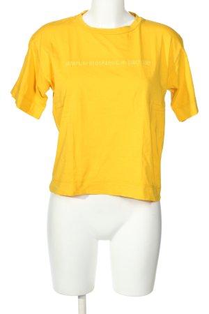 Napapijri T-Shirt blassgelb Casual-Look
