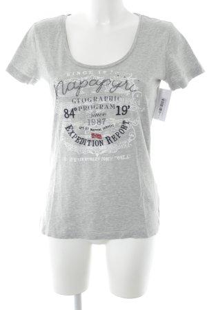 Napapijri T-Shirt Schriftzug gedruckt Casual-Look
