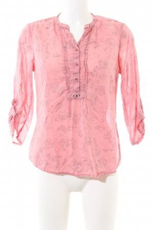 Napapijri Tunikabluse pink Allover-Druck Casual-Look