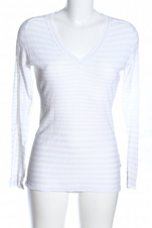 Napapijri V-Ausschnitt-Pullover weiß-wollweiß Allover-Druck Casual-Look