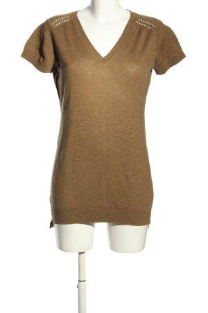 Napapijri V-Ausschnitt-Shirt braun meliert Casual-Look