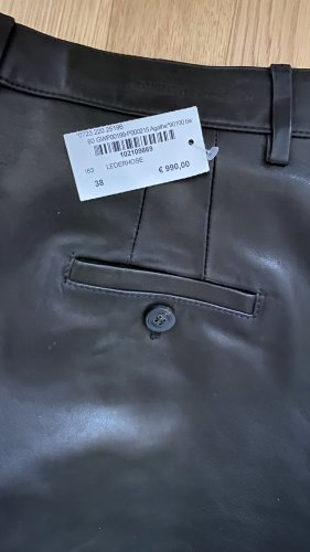 Golden Goose Pantalone in pelle nero Pelle