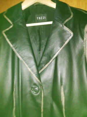 Tuzzi Blazer en cuir noir