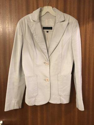 Mauritius Veste en cuir blanc cassé