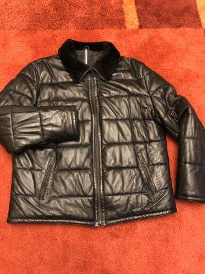 0039 Italy Leren jack zwart