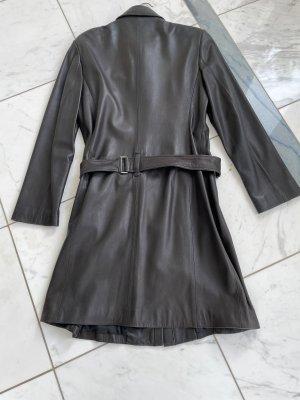 Blacky Dress Abrigo de cuero marrón oscuro Cuero