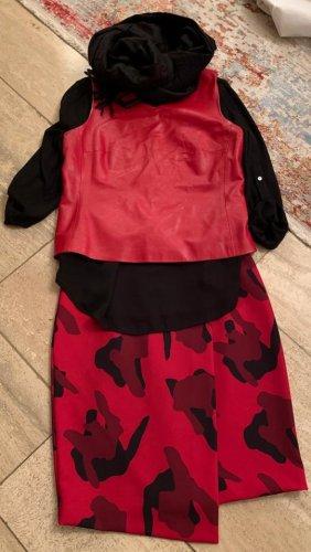 Yazoo Haut type corsage rouge brique cuir