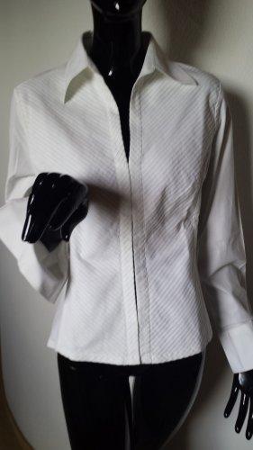 NARACAMICIE elegante weiße Bluse aus Burano, Gr. 38