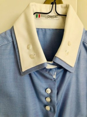 Naracamicie Hemd mit Doppeltem Kragen Blau/Weiß