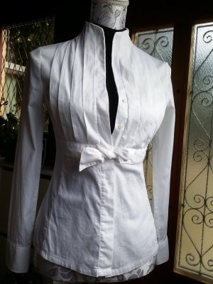 Naracamicie Stand-Up Collar Blouse white