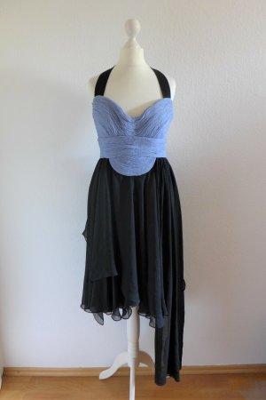 Narciso Rodriguez Abendkleid kurz schwarz hellblau Gr. 36 S