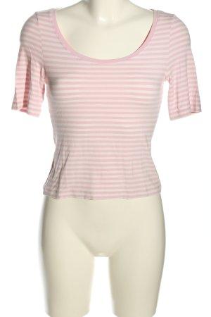 Narli T-Shirt wollweiß-pink Streifenmuster Casual-Look