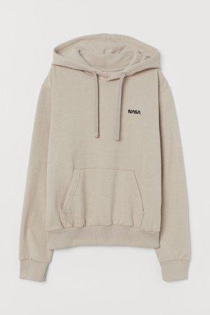 H&M Top à capuche beige clair