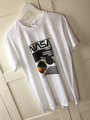 Nasa Logo T-Shirt weißes Shirt gr:M