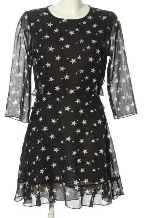 Nasty Gal Abito blusa nero-bianco stampa integrale stile casual