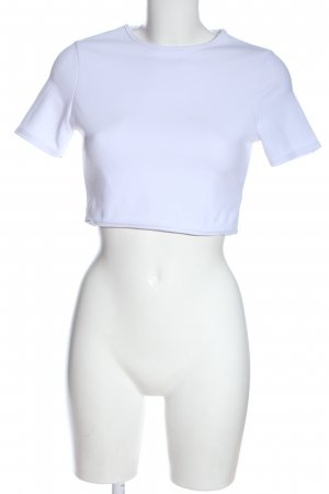 Nasty Gal Camicia cropped bianco stile casual