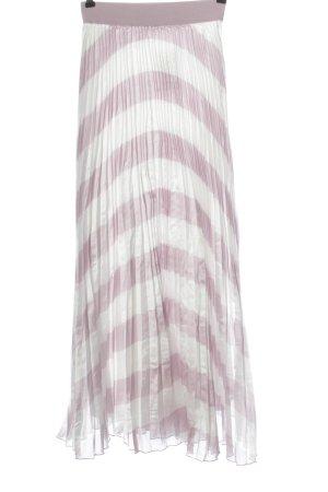 Nasty Gal Jupe à plis rose-blanc motif rayé style décontracté