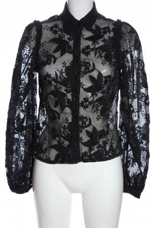 Nasty Gal Camicia blusa nero stampa integrale stile casual