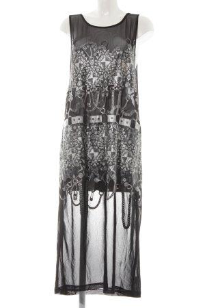 Nasty Gal Jerseykleid schwarz-silberfarben Street-Fashion-Look