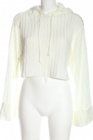 Nasty Gal Hooded Sweater white casual look
