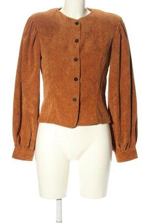 Nasty Gal Camicetta a maniche lunghe arancione chiaro puntinato elegante