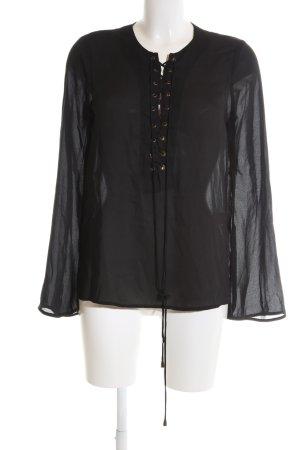 Nasty Gal Langarm-Bluse schwarz Elegant