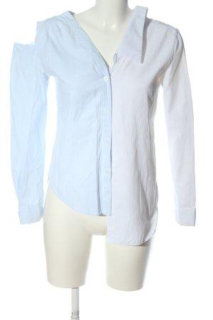 Nasty Gal Camicia a maniche lunghe blu-bianco motivo a righe stile casual