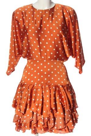 Nasty Gal Abito a maniche lunghe arancione chiaro-bianco stampa integrale