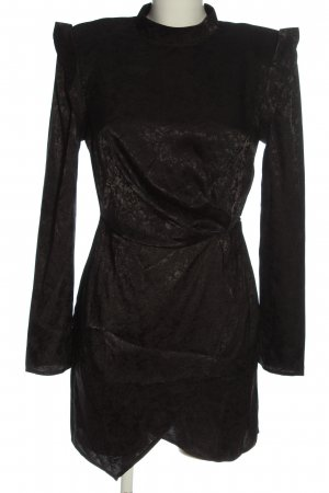 Nasty Gal Longsleeve Dress black abstract pattern extravagant style