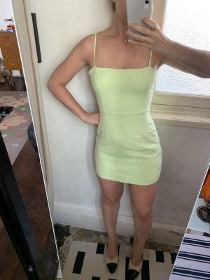 Nasty Gal Mini Dress pale green linen