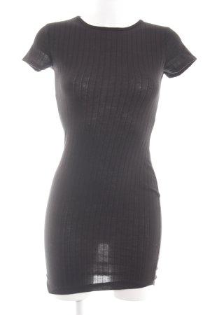 Nasty Gal Shirtkleid schwarz Streifenmuster Casual-Look