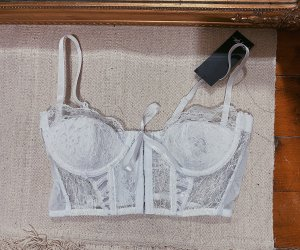 Nasty Gal Corsage Top white