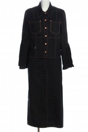 Nathalie chaize Twin Set punto negro look casual